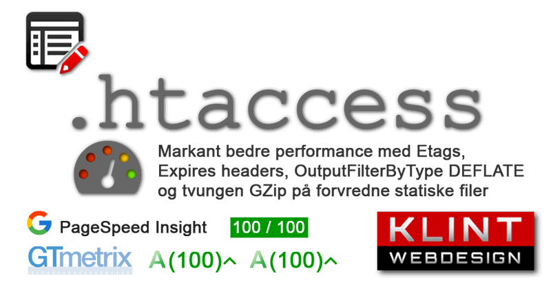 .htaccess Fil - sikkerhed ? performance ⚡️ max PageSpeed
