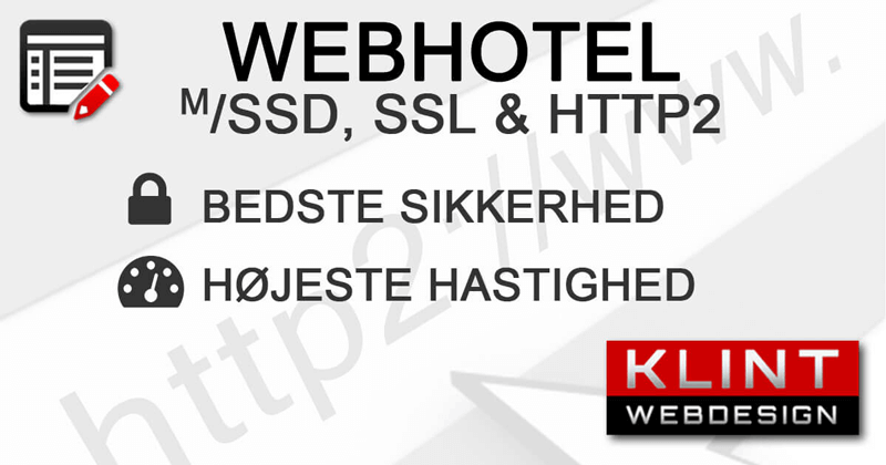 Klint WebHost - SSD ✔️ GRATIS SSL ✔️ HTTPS ✔️ HTTP2 ✔️
