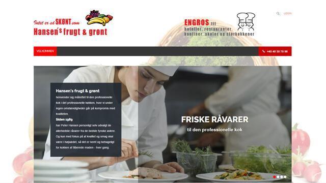 Hansens Frugt & Grønt - Ny hjemmeside, Reference