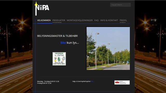 Nipa Belysningsmaster - Reference