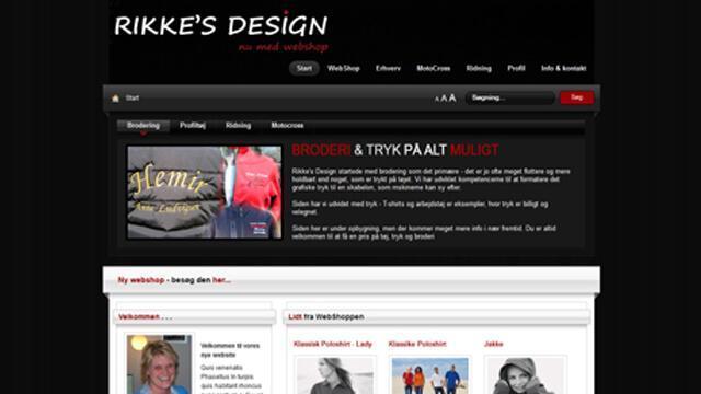 Rikke's Design - WebShop - Reference